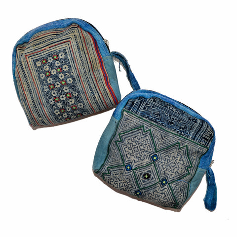 Assorted Square Hmong Fabric Make-up bag