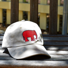Red Elephant Canvas Hat (Khaki)
