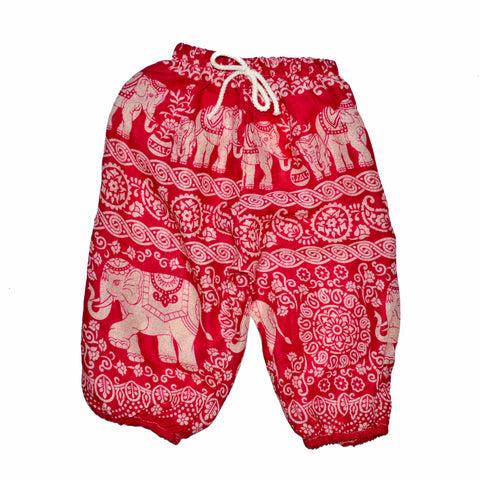 Childrens Elephant Print Pants - Pink