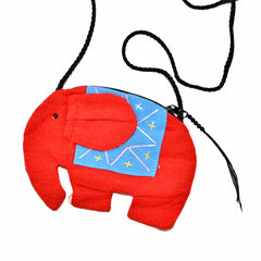 Elephant Shaped Mini Sling Bag (Red & Blue)