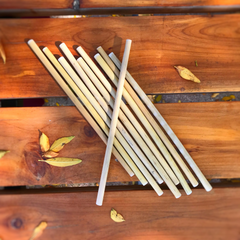 Reusable Bamboo Drinking Straws in Drawstring Bag