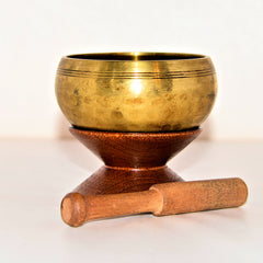 Tibetan Singing Bowl with Stand 4.1""