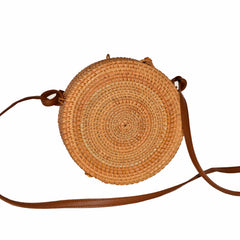 Vietnamese Sedge Handbag - Small Round
