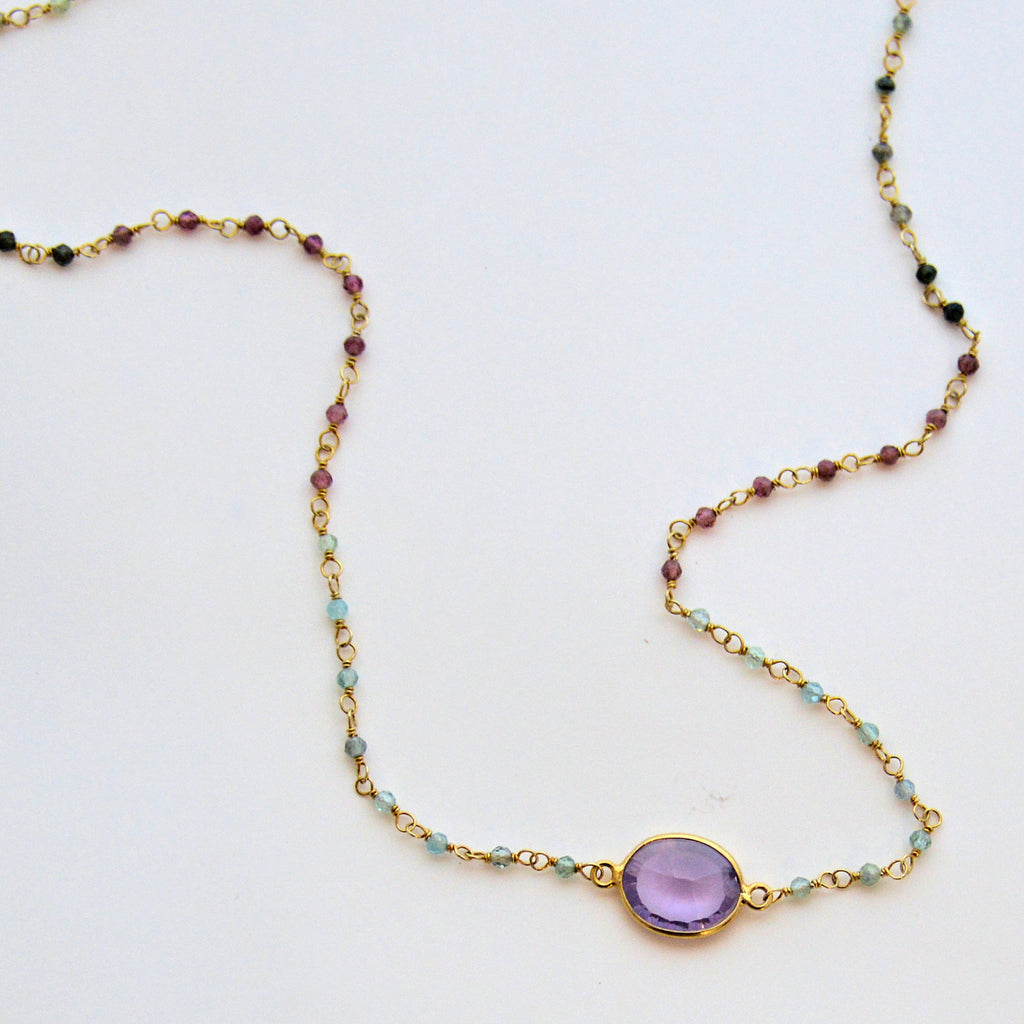 Tourmaline and Amethyst Necklace