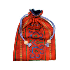 Hmong Fabric Drawstring Bag