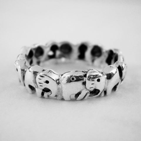 Band of Elephants Ring