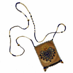 Olivia Dar Talisman Necklace - Gold and Blue