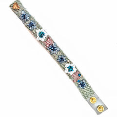 Olivia Dar Flower Bracelet - Light Blue