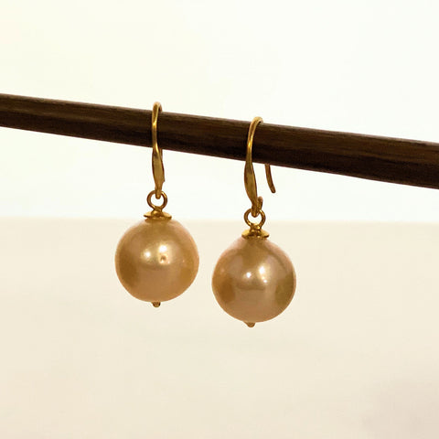 Rose Pearl Drop French Hook Earrings