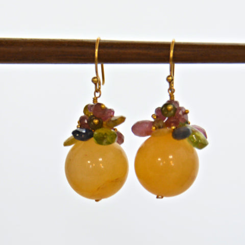 Yellow Chalcedony Earrings