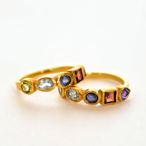 Mixed Gems Ring