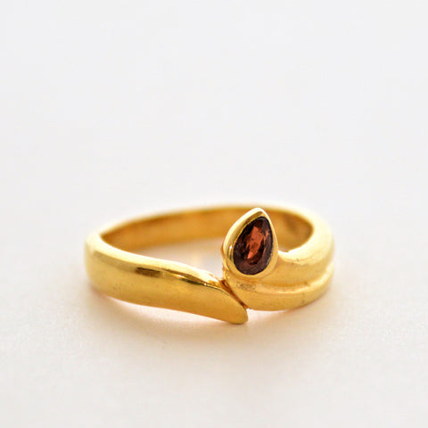 Gemstone Ring - Burgundy