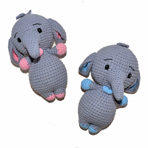 Crochet Baby Elephant Plush Toy (Boy)