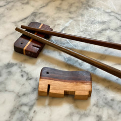 Chopstick Rest in Mixed wood