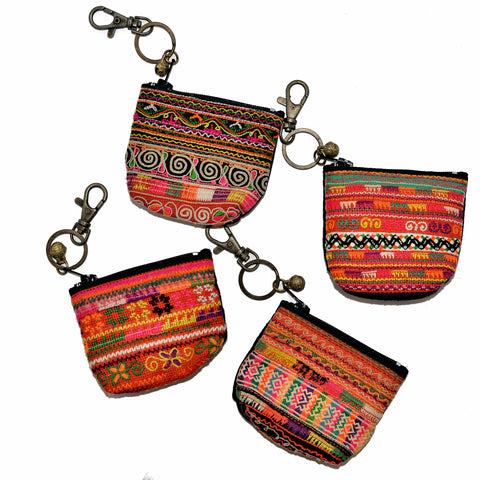 Hmong Change Purse Keychain