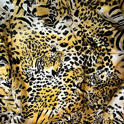 Square Silk Scarf - Tiger