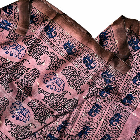 Rectangle Silk Scarf - Elephant