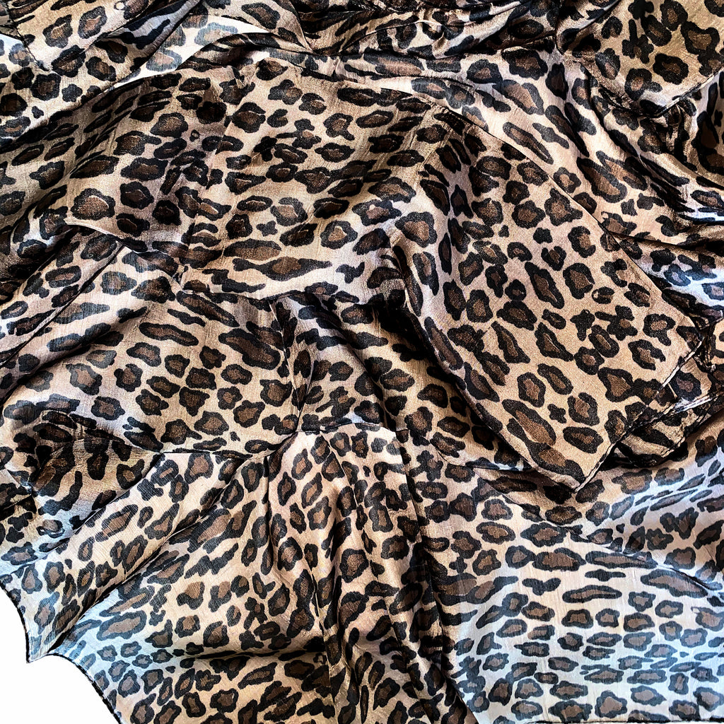 Rectangle Silk Scarf - Leopard
