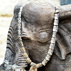 Elephant Caravan Laying Flat Necklace