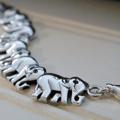 Laying Flat elephant Bracelet