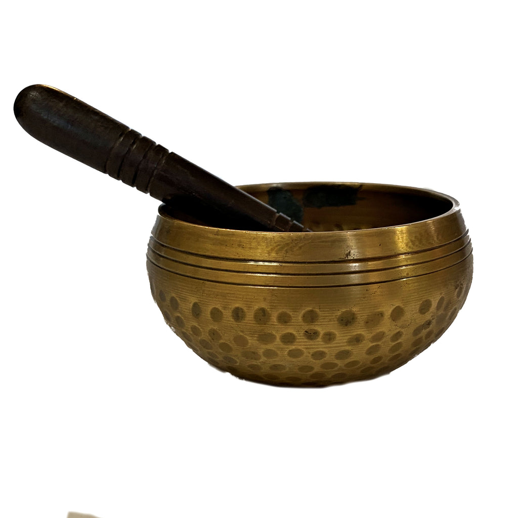"Tibetan Singing Bowl 4"" with wood Mallet"