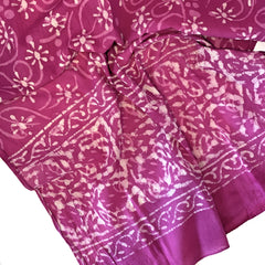 Batik Print Cotton Scarf (Pink Flower)