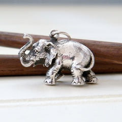 Sterling Silver Elephant Charm (large)