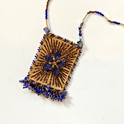 Olivia Dar Talisman Necklace - Star - Blue