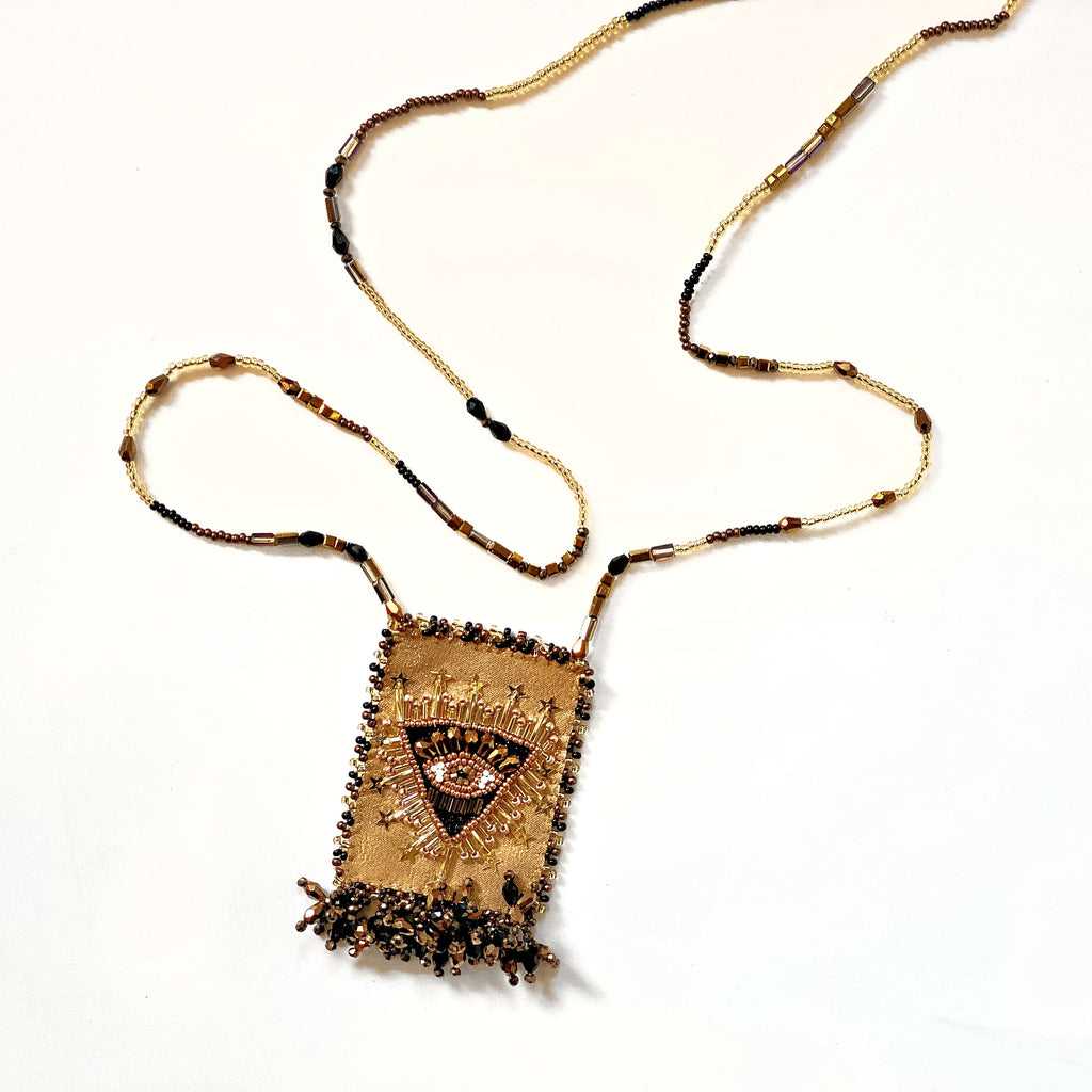 Olivia Dar Talisman Necklace - Eye - Gold