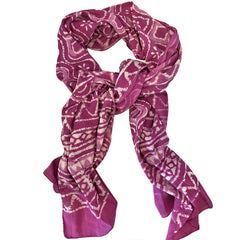 Batik Print Cotton Scarf (Pink Bubble)