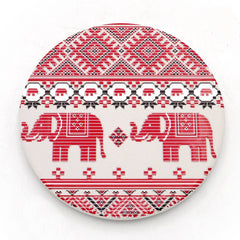 Water Absorbent Clay Coaster - Red Elephant Textile
