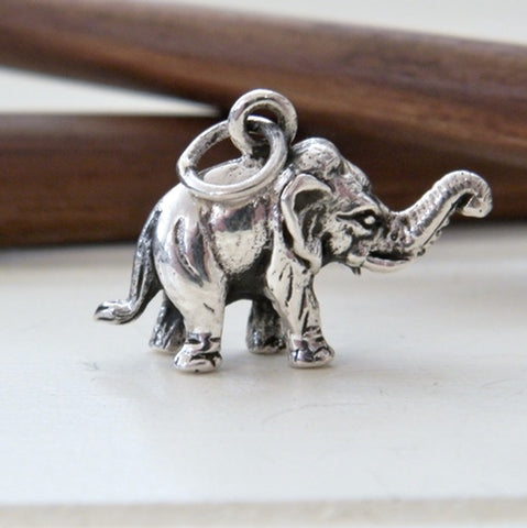 Sterling Silver Elephant Charm (small)