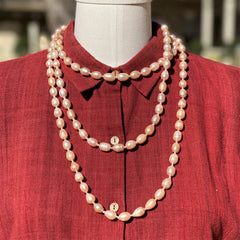 Pink Freshwater Pearl Necklace 18""