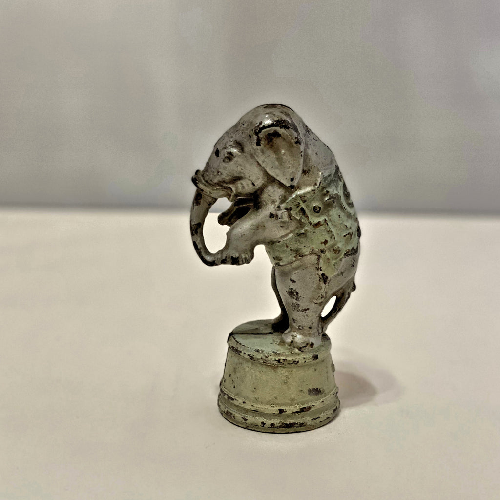 Vintage Cast Iron Circus Elephant Coin Bank