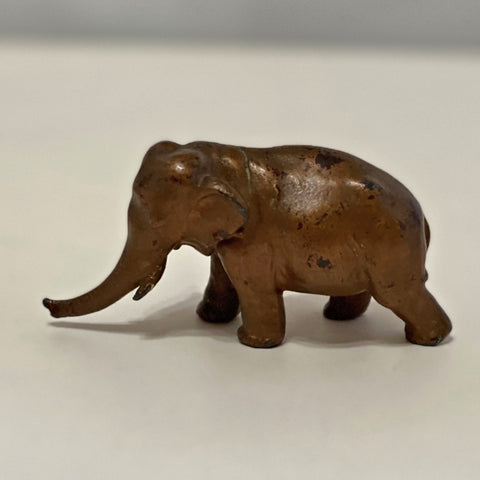 Vintage Cast Iron Elephant Figure - Bronze