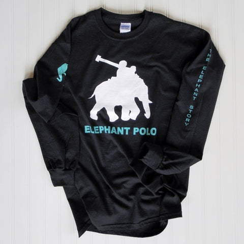 Mahout Long-Sleeve Elephant Polo Game Shirt