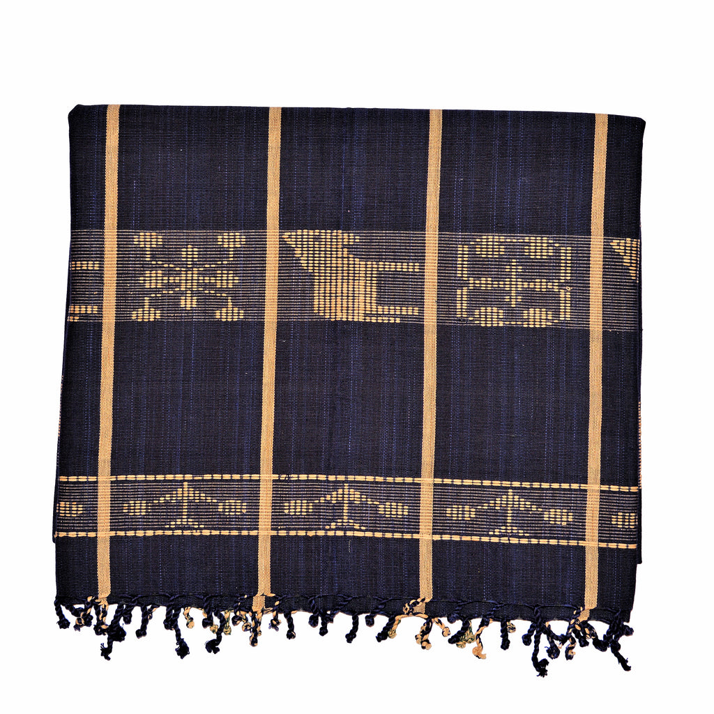 Thai Cotton Hand Woven Blanket - Donkeys and Elephants