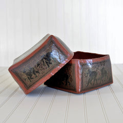 Burmese Lacquerware Square Box (large)