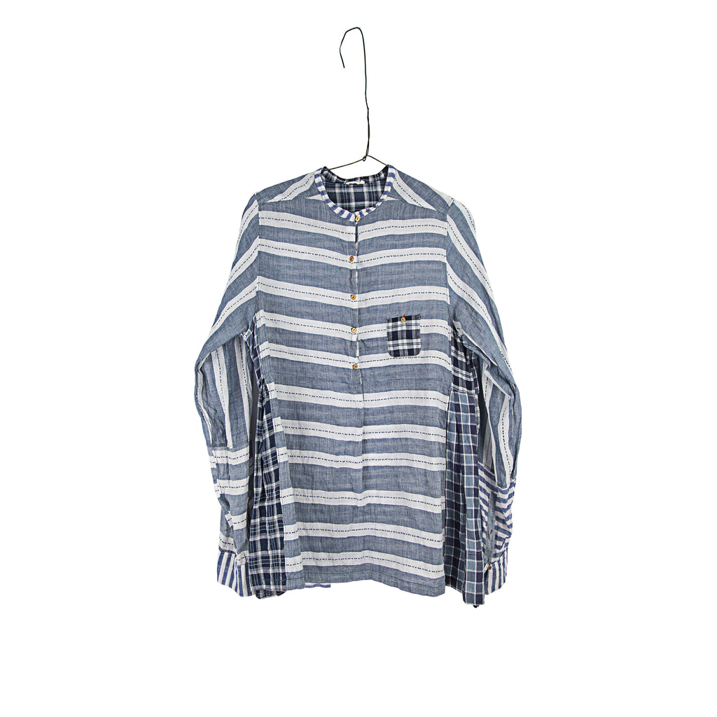 injiri Boro-20-Chambray & Plaid Shirt
