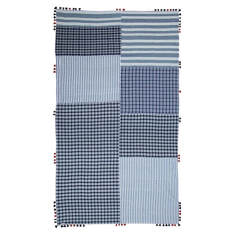 injiri Boro 38- Navy Plaid Scarf