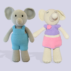 Crochet Elephant Plush Toy (Girl)