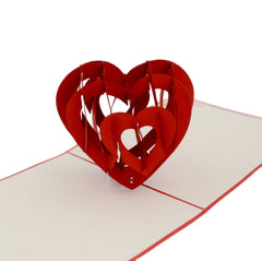 Vietnamese Hand-made Pop-up Card - 3D Heart