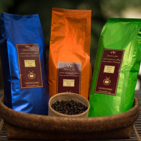 Suan Lahu Organic Coffee Beans (Dark Roast)
