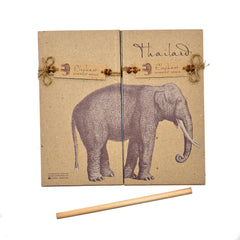 Thailand Elephant Notepads - 2 Medium Size Pads & Pencil
