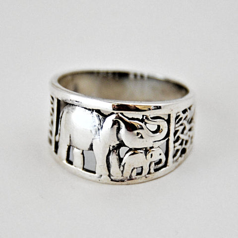 Mother and Baby Elephant Ring