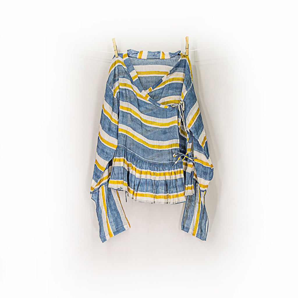 injiri Guler 04 - Blue & Yellow Stripe Top