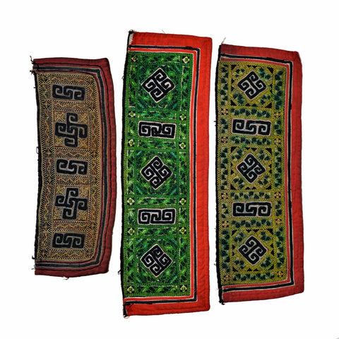 Vintage Hmong Hill Tribe Sapa Silk Fabric