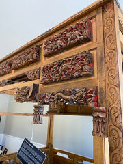 Late 19th Century Chinese Wedding/Opium Canopy Bed