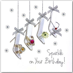 Jaab Cards - Silver Birthday Shoes Card