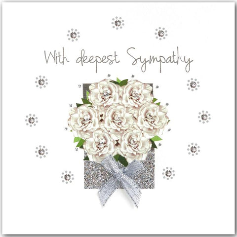 Jaab Cards - White Rose Box Sympathy